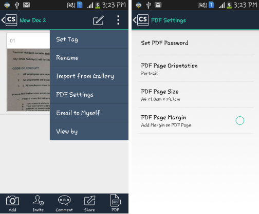 CamScanner- save and customize pdf