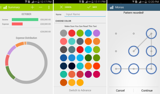 expense manager android app to manage money monas