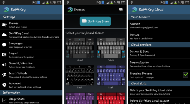SwiftKey settings