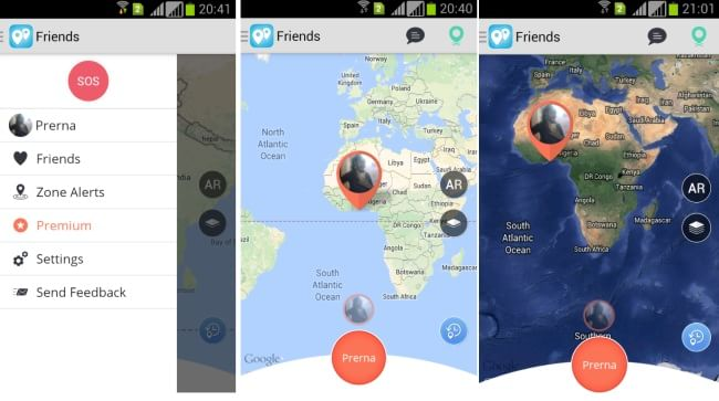 Find My Friends & Buddies map types