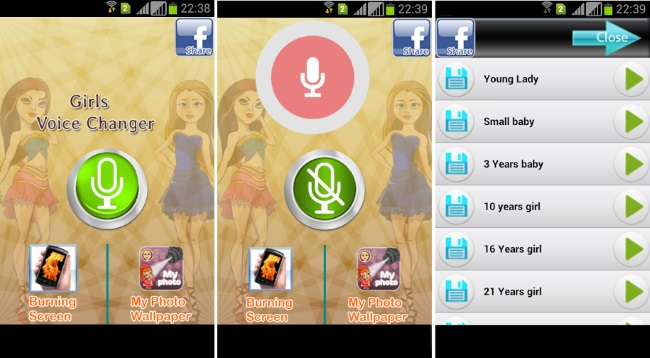 Girls Voice Changer-Record and Change