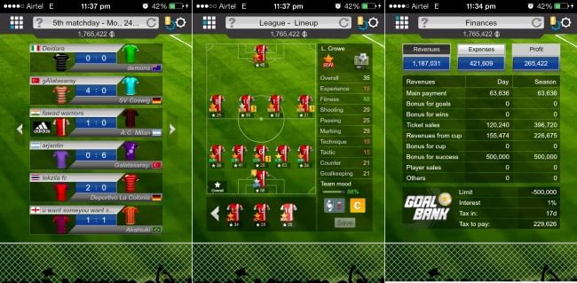 Goal Football Manager- Finances