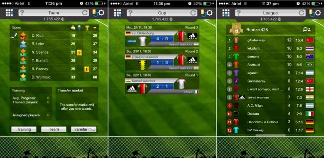 Goal Football Manager- Team