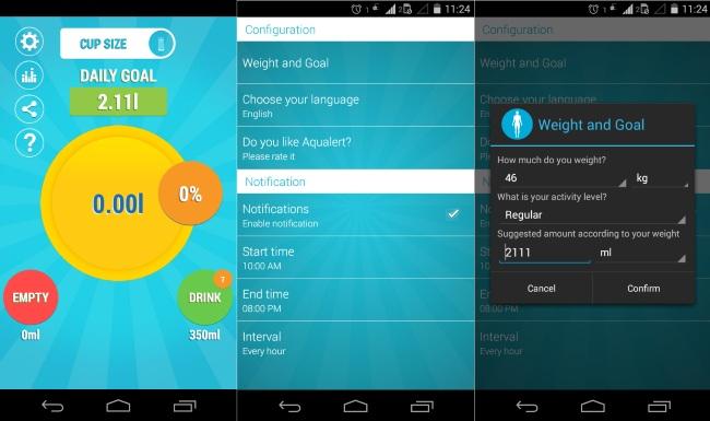 AqualertWater Tracker H2O EAU