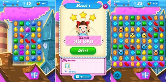 Candy Crush Soda Saga- Score