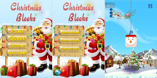 Christmas Blocks Free - Building Blocks Stack Game