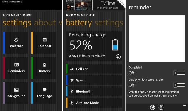 Lock Manager Free for Windows Phone