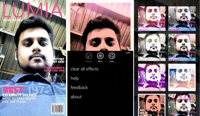 Lumia Selfie- Windows Phone Selfie app