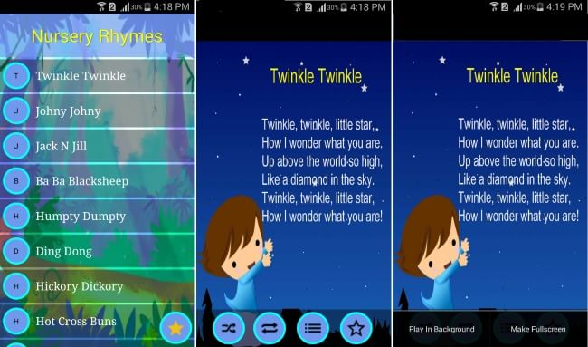 nursery rhyme apps