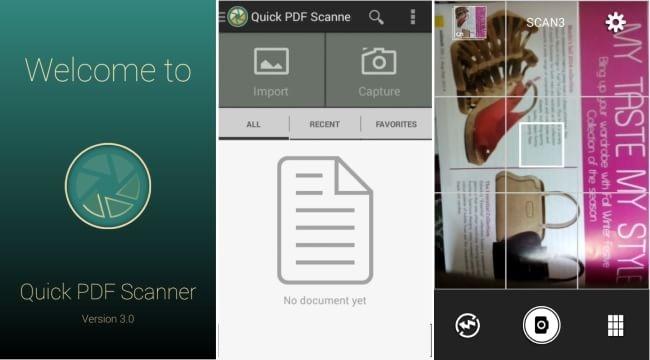 Quick pdf scanner app