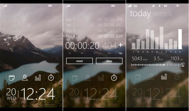 Tetra Lock screen for Windows Phone