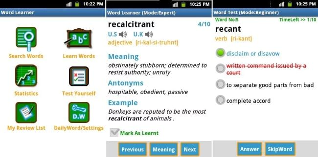 Word Learner Vocab Builder GRE