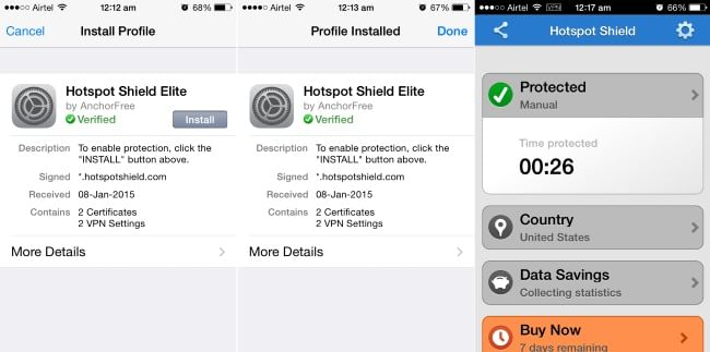 Hotspot Shield VPN for iPhone