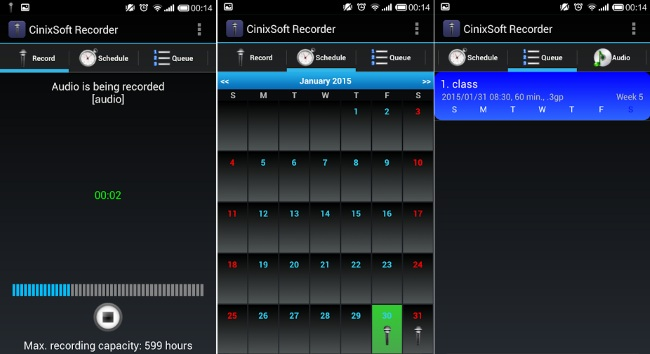 Schedule Voice Recorder